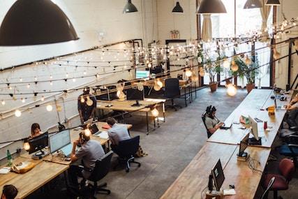 Arbeiten in einem Coworking Space